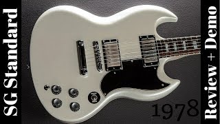 1978 Gibson SG Standard Pearl White Refinish Review + Demo