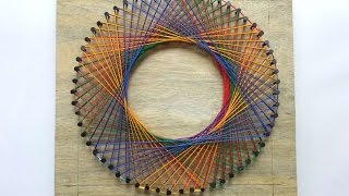How To Create A Colorful Spirograph String Art - DIY  Tutorial - Guidecentral