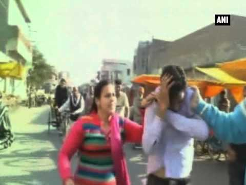 Patiala: Woman thrashes cylinder agency worker for misbehaving