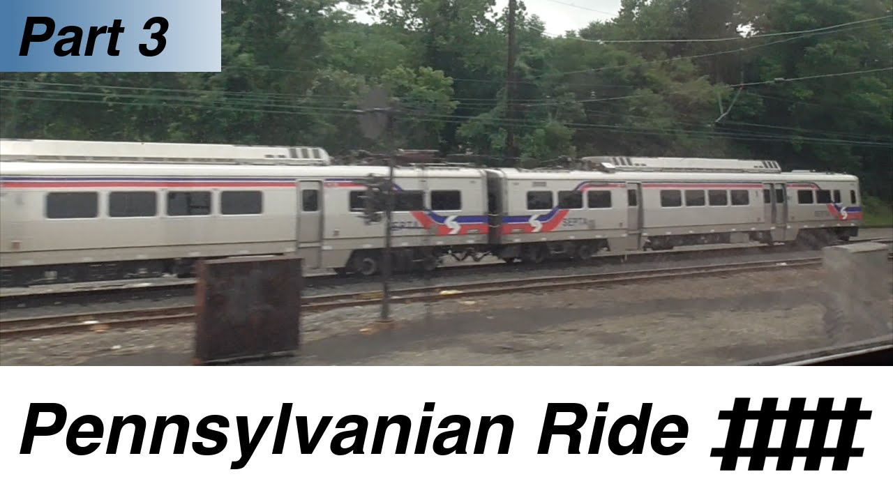 Paoli Station To Exton Station Amtrak Pennsylvanian Ride Part 3 Of