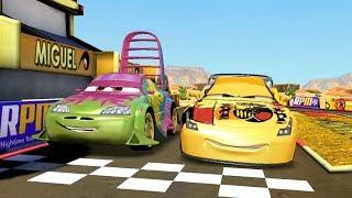Spanish Miguel Camino VS Wingo & Francesco Bernoulli Disney CARS Racing Game Play