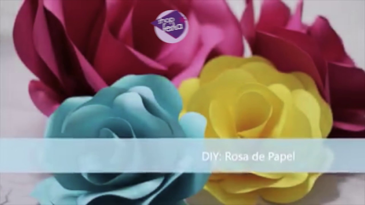 Molde Rosas De Papel Passo A Passo Youtube