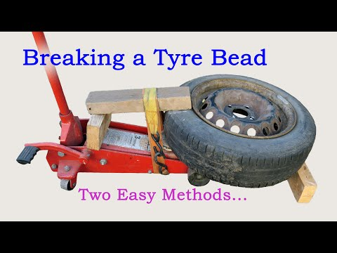 Breaking a Tyre Bead - Two Easy Methods...