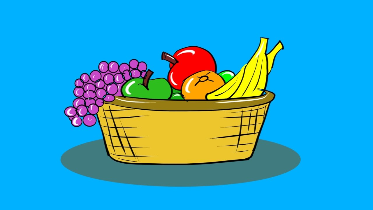 Fruit bowl coloring pictures - How To Draw Bowl Of Fruit Drawing And Coloring Step By Step Coloring Pages For Kids