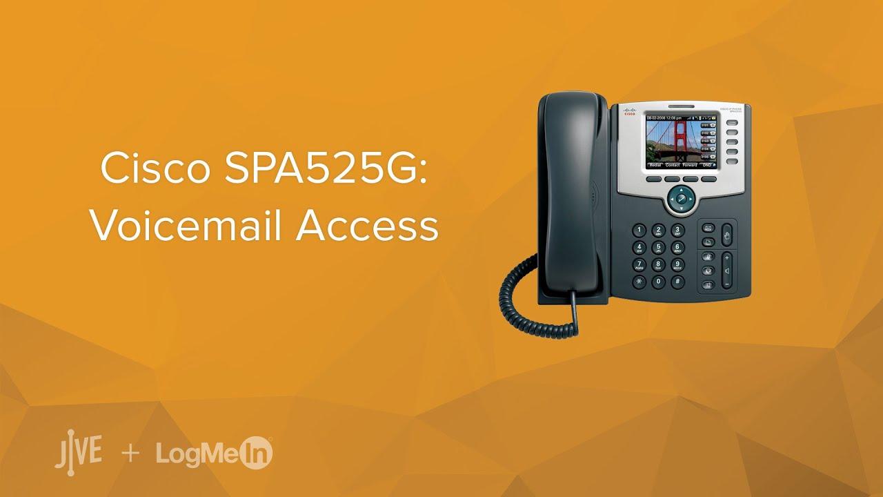 Cisco SPA525G: Voicemail Access