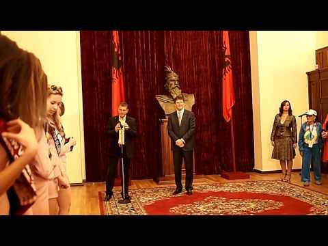 meeting the president of Albania