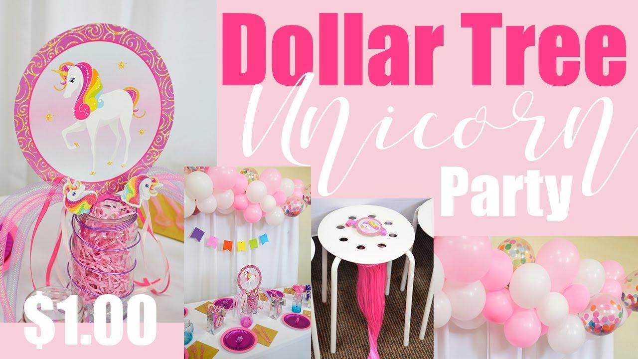 Diy Unicorn Party Decor Under 30 Kids Birthday Party Ideas Ll Organic Balloon Garland