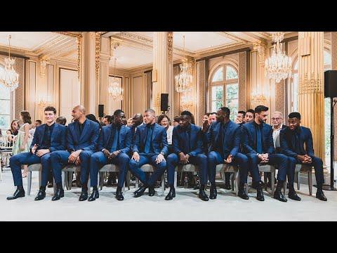 Équipe de France masculine de football - Remise de décoration