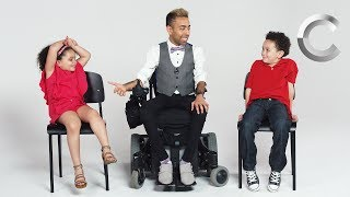 Kids Meet a Guy with Muscular Dystrophy thumbnail
