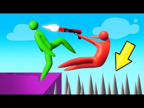 GUNS vs. MASSIVE SPIKES BATTLE! (Super Smash)