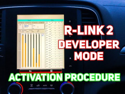 R Link 2 Developer Mode Activation Tutorial | Renault R-Link 2 Debug Mode