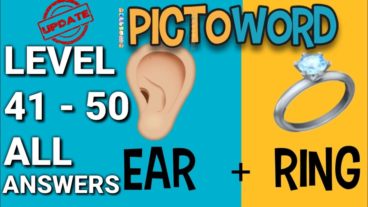 Pictoword Level 41-50 ALL ANSWERS - YouTube
