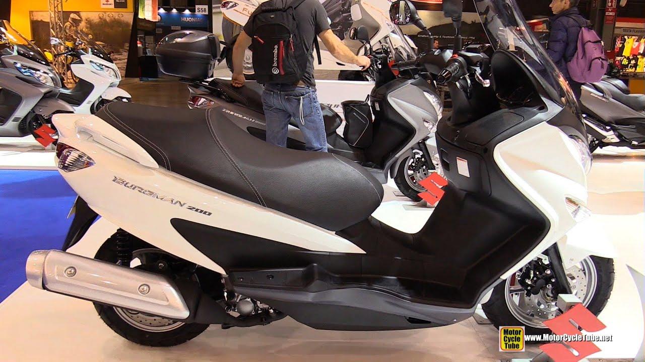 2017 Suzuki Burgman 200 Scooter Walkaround Eicma Milan Motorcycle Exhibition You