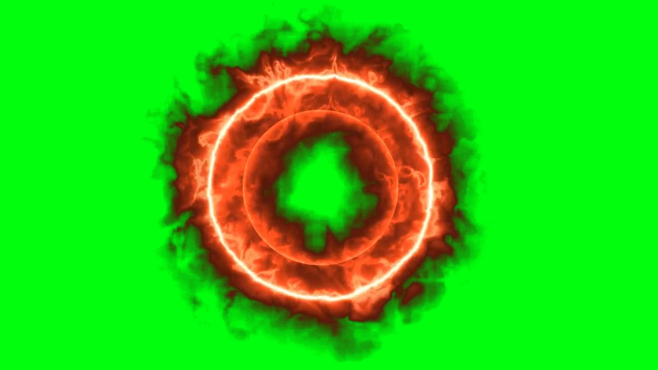 Fire ring animation (green screen) - YouTube
