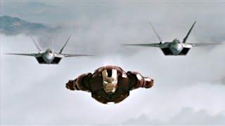 Железный Человек против Истребителей  F-22 Raptor  - Железный Человек