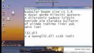 Cs 1.6 opengl32.dll açılışı