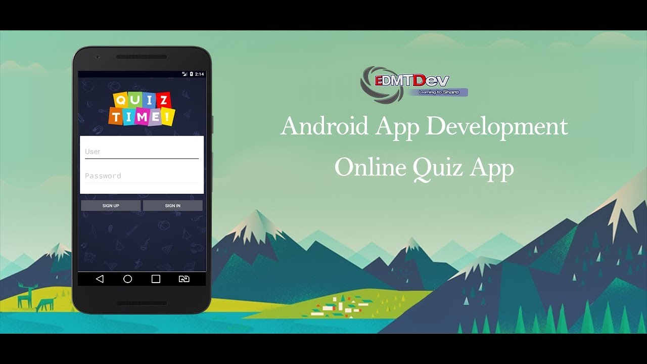 Android Studio Tutorial - Online Quiz App part 7 (Push Notification) edmt  dev