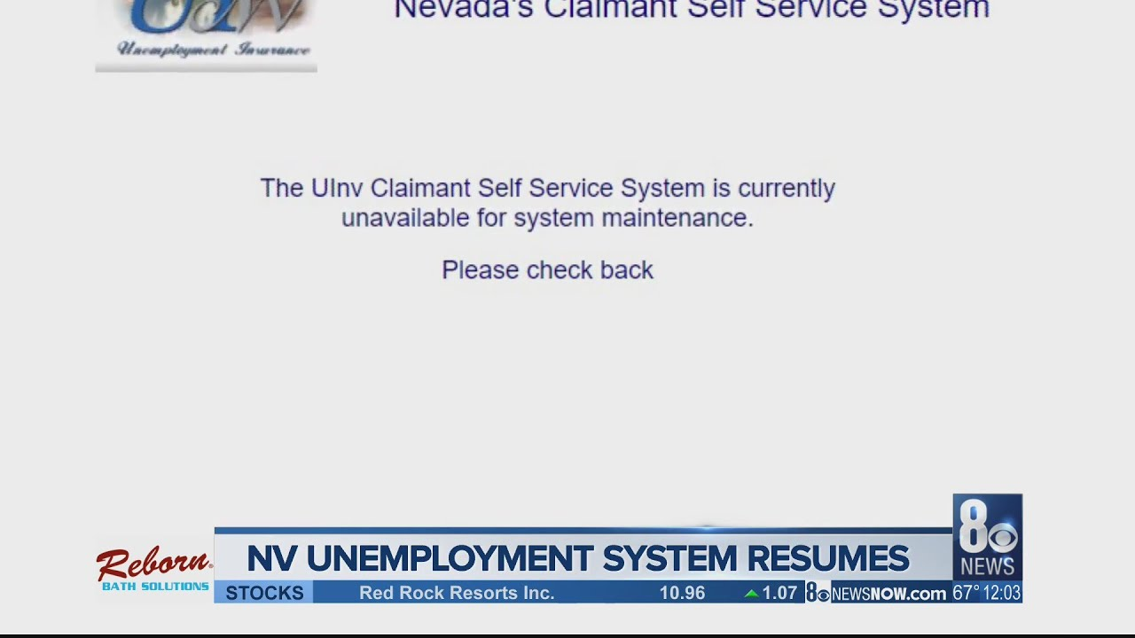 Update Nevada S Unemployment Website Working Again Youtube