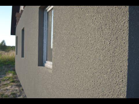 """Декоративная отделка фасада. Способ нанесения """"шубы""""на фасад утеплённый плитам ППС."""