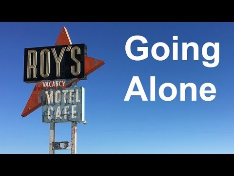 GOING ALONE - Walking through Amboy on Route 66