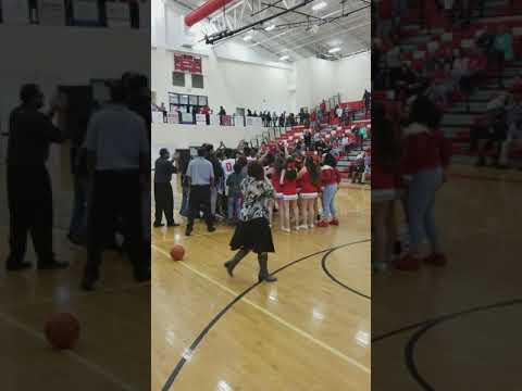 Social Circle middle school Basketball championship celebration