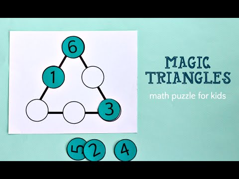 Magic Triangle Math Puzzle (and solution)