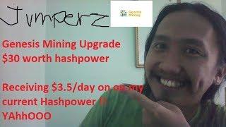 Genesis Mining Update (upgrade $30 worth hashpower)
