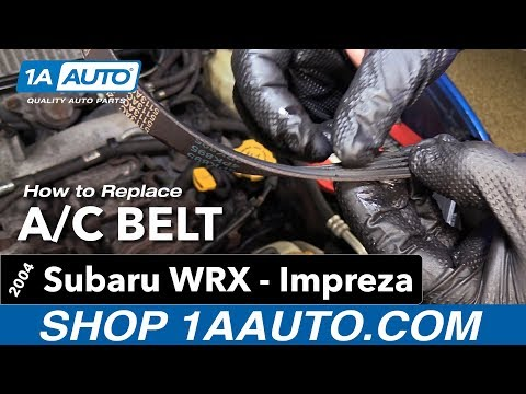 How to Replace Install A/C Belt 04 Subaru Impreza WRX