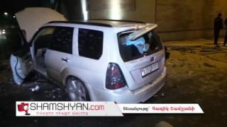 Երևանում վարորդը Subaro ով հայտնվել է մայթին, այնուհետև բախվել Opel ին ու տապալել «սվետաֆորը»
