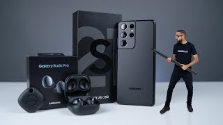 Samsung Galaxy S21 Ultra & Galaxy Buds Pro UNBOXING