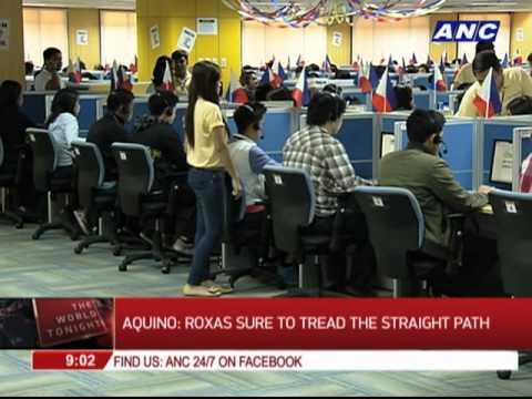 Aquino: Roxas sure to tread the straight path