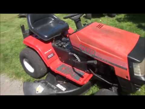 Very COMMON MTD Riding Lawnmower PROBLEM, WON'T START - Blade Enement on