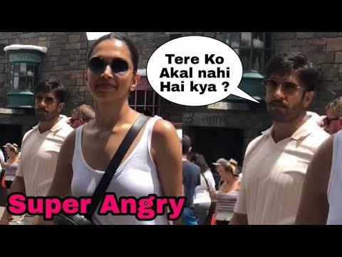 Omg !Deepika Padukone And Bf Ranveer Singh Attacks A Fan Badly In America