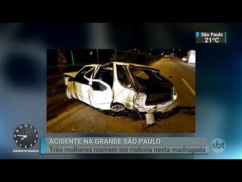 Acidente grave mata três mulheres na Região Metropolitana de SP | SBT Brasil (09/04/18)
