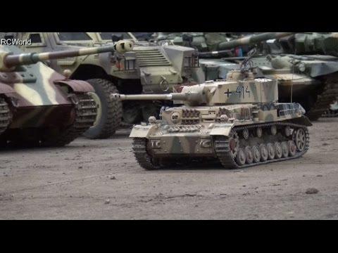 RC Tanks Panzer Tiger Leopard Sherman Panther ♦ Erlebniswelt Modellbau Erfurt 2016 Modellbaumesse