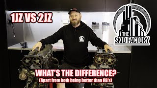 1JZ VS 2JZ Tear down and Differences  - THE SKID FACTORY