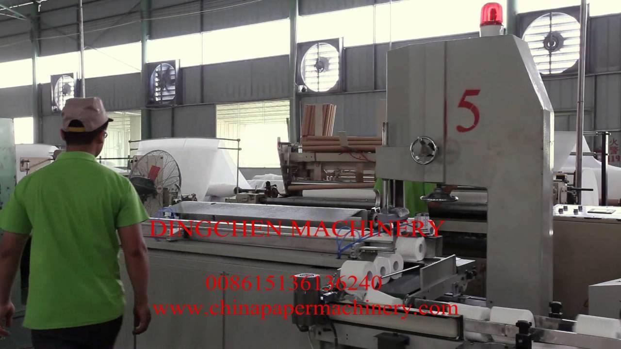Papercraft automatic toilet roll cutting machine