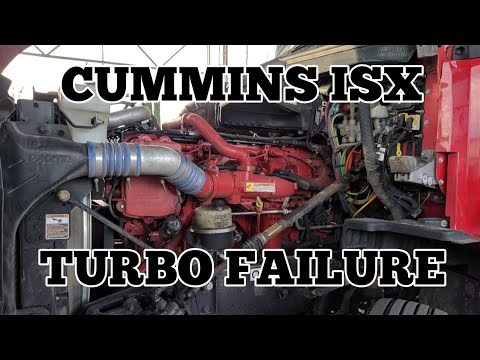 Cummins ISX turbo oil leak problem failure Freightliner Kenworth peterbilt  international volvo
