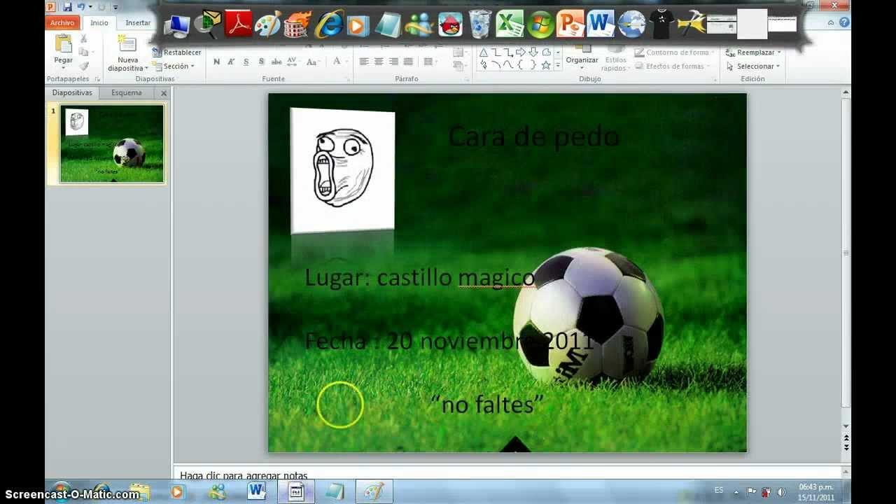 Como Hacer Invitaciones De Futbol