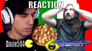 DragonForce Reaction - Drummer Gee Anzalone Shock Reaction to Davie504 Eating Pineapple Pizza