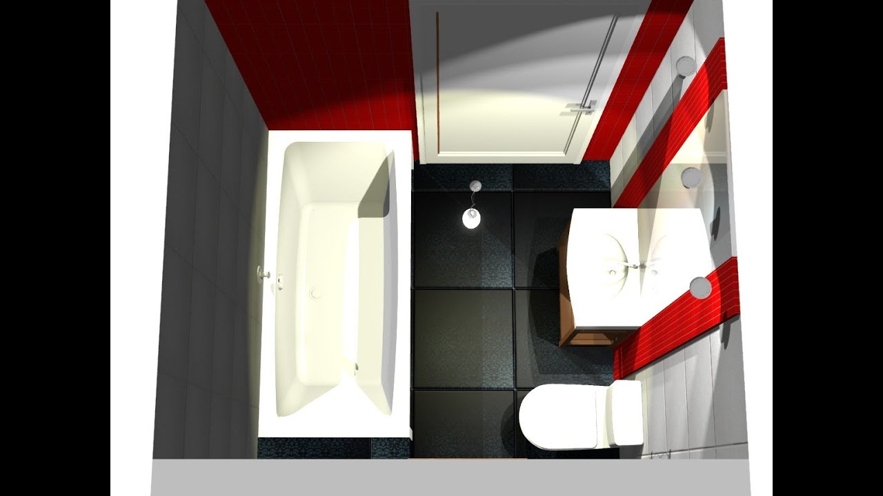 Projekt małej łazienki PRO100 - YouTube