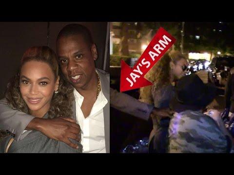 Jay Z Fends Off Crazed Fan Who Grabbed Beyonce