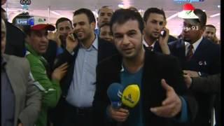 شاهد| لحظة وصول الطائرة الايرانية الى مطار الدوحة محملة بالمواد الغذائية