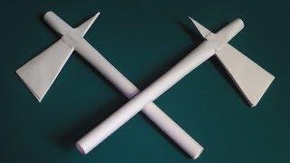 оригами боевой топор индейцев томагавк, как сделать оригами оружие из бумаги //  origami ax