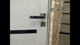 Простая установка ручки на межкомнатную дверь.(с установкой двери)!!!