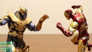 This video is 「AVENGERS STOP MOTION UNBOXING IRON MAN MK85 S.H.FIG...