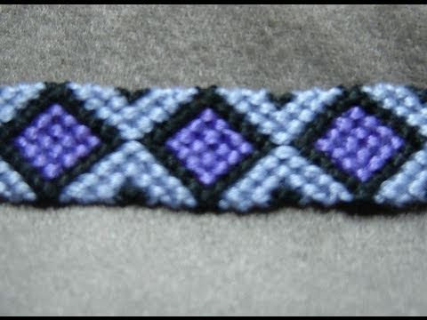 woven blue bracelet jerezwine string purple bracelets black pink white diamond friendship