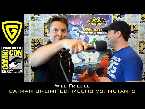 Will Friedle interview - Batman Unlimited: Mechs vs Mutants - SDCC 2016