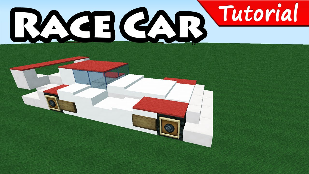 How To Make Race Sport Car Minecraft Vehicle Tutorial Youtube