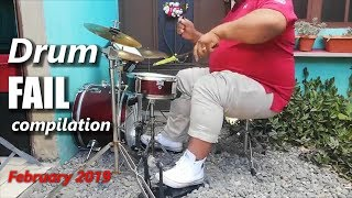 Drum FAIL compilation February 2019   RockStar FAIL